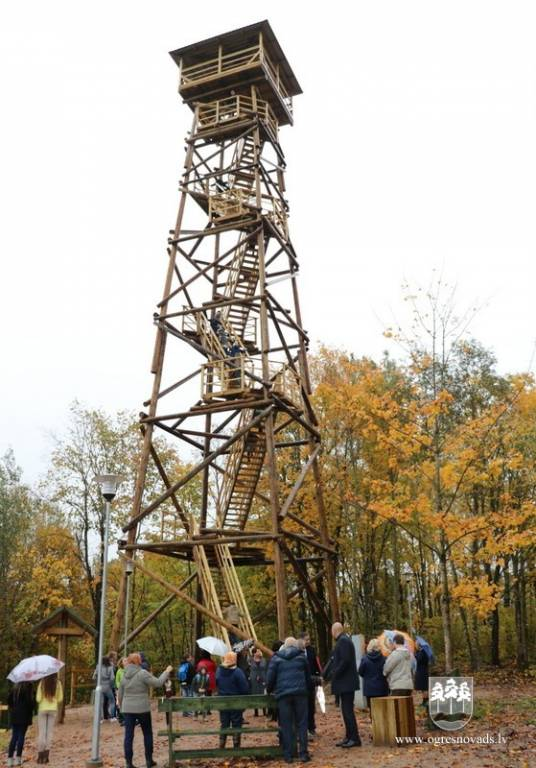 Ogres novadā jauns tūrisma objekts – skatu tornis