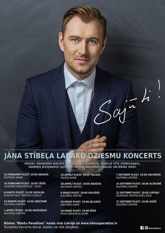"""Jāņa Stībeļa koncerts """"Sajūti!"""" Ogrē"""
