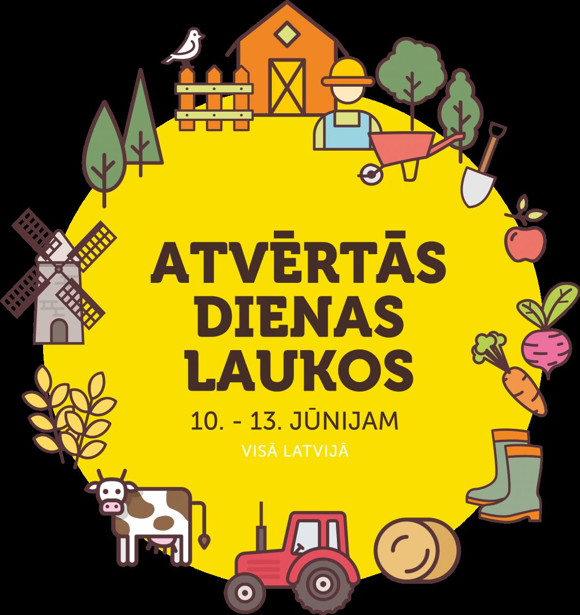 Atvērtās dienas laukos 2021 logo - Ogres novadā