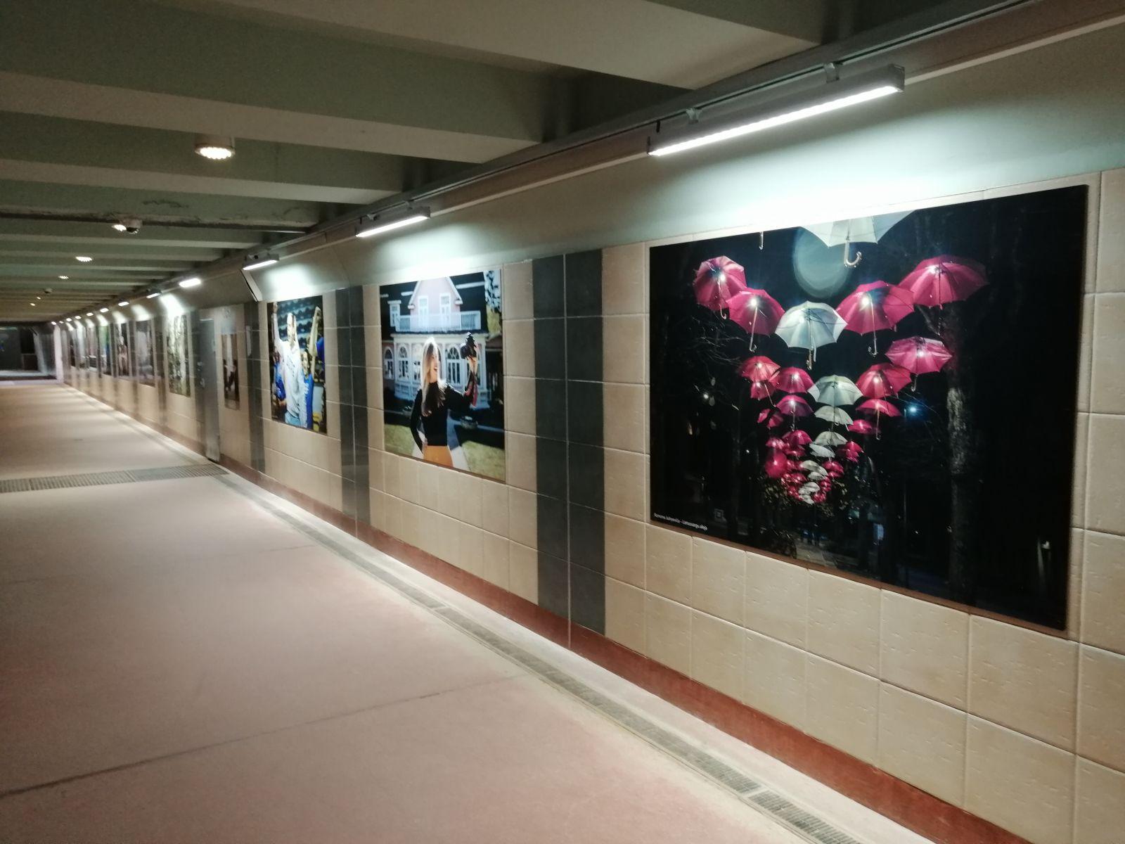 Galerija Ogres stacijas gājēju tunelī