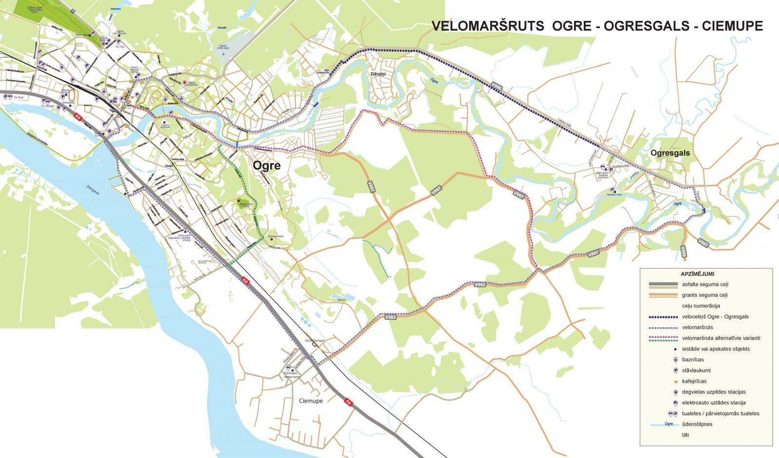 Jaunais velomaršruts Ogre-Ogresgals-Ciemupe