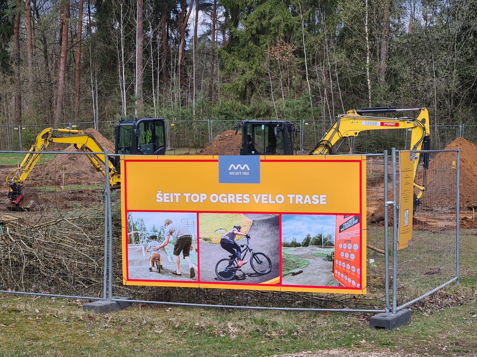 Ogrē uzsākta velotrases būvniecīvba