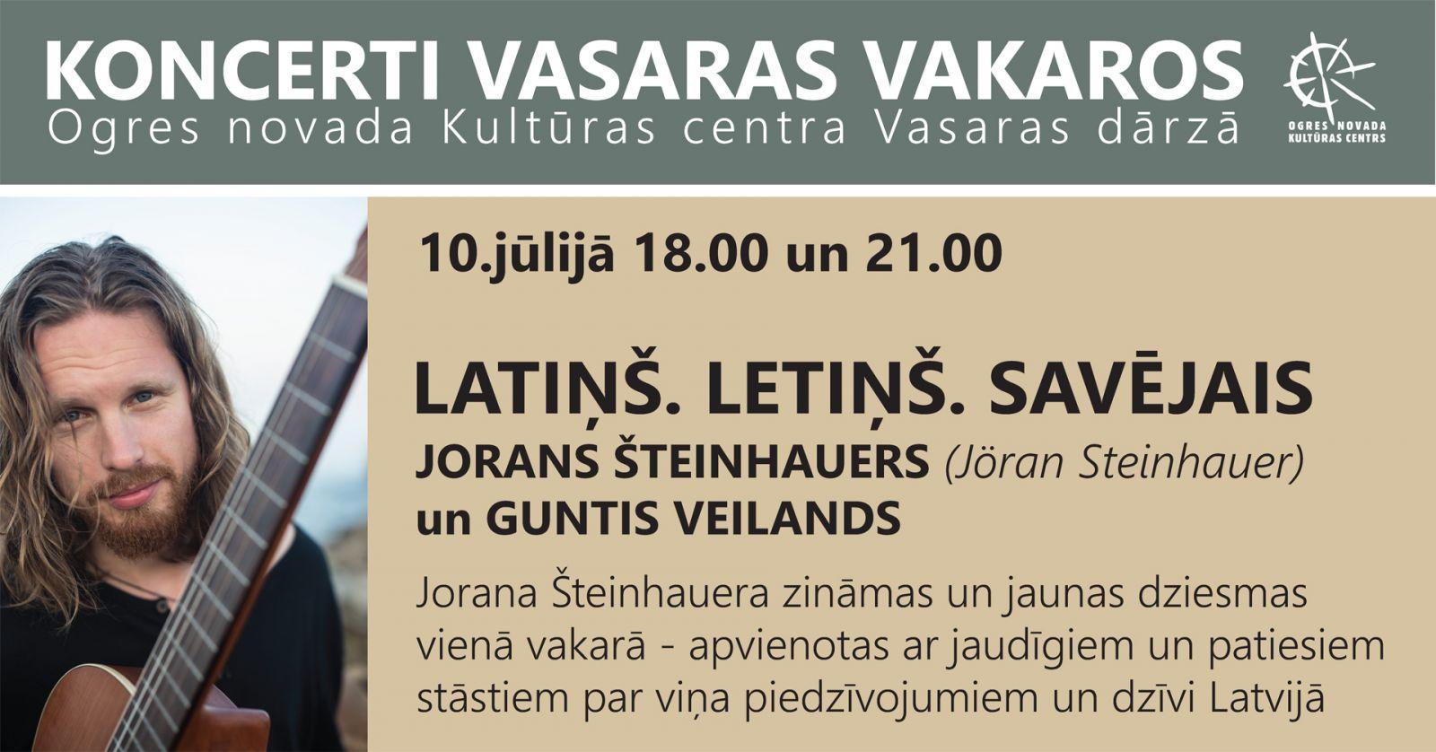 10. jūlijā Ogrē koncertēs JORANS ŠTEINHAUERS (Jöran Steinhauer)